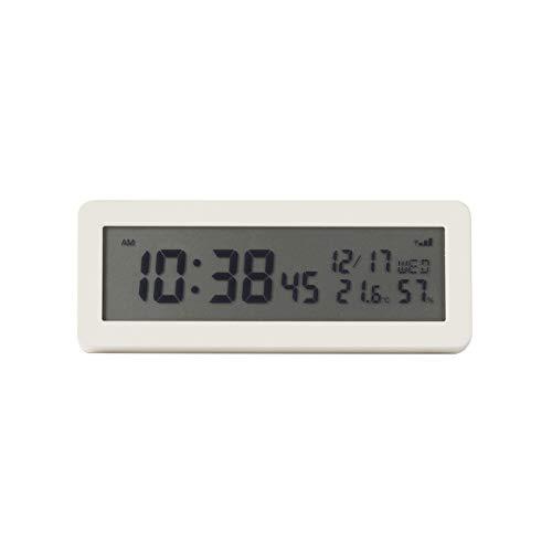 無印良品デジタル電波時計(大音量アラーム機能付)置時計・ホワイト15832620