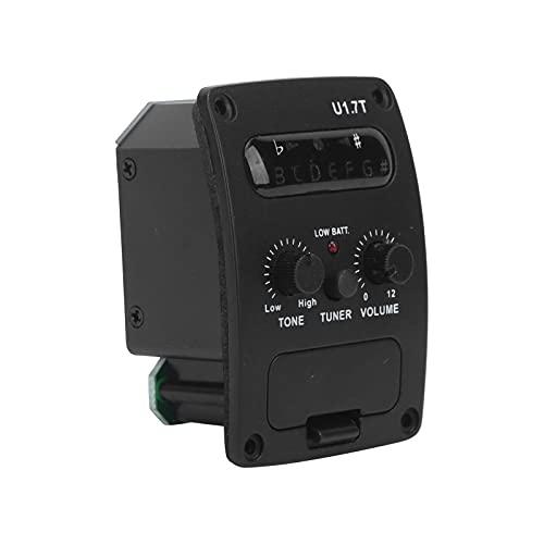 Magnetischer Schallloch-Tonabnehmer, elektrischer Wandler Gitarren-Tonabnehmer Akustik für R Magnetischen Vorverstärker(Schwarz)