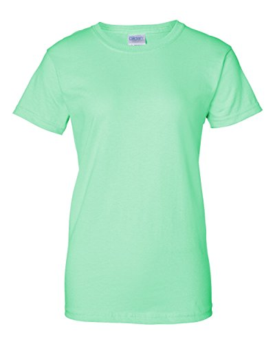 Gildan Ultra Cotton Ladies 6 oz. T-Shirt, Medium, Mint Green