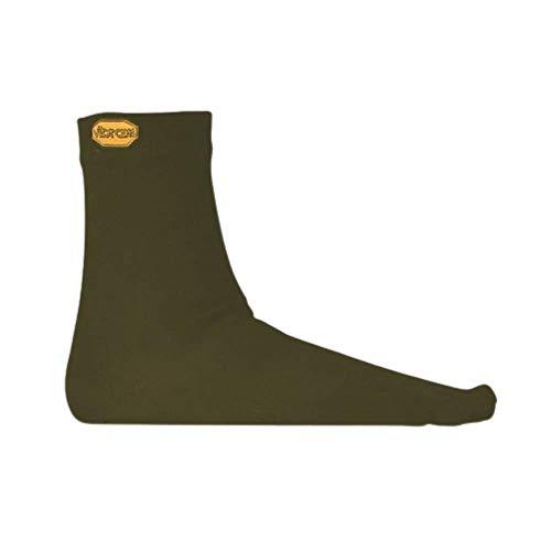 Vibram FiveFingers, Wool Blend Crew Socks XL Vert Militaire