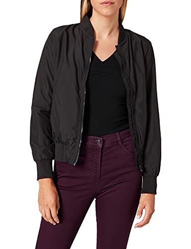 Urban Classics Ladies Light Bomber Jacket - Chaqueta Mujer, color Negro (Black 7), talla 40 (Talla del fabricante: L)