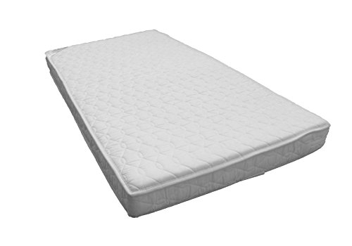 Katy® Pocket Sprung Quilted Microfibre Anti Allergy Fully Bound Reversible Cot Bed Junior Bed Mattress – 140 x 70 x 10 cm Thick - Will Fit M&P Cot Beds 400 Size As Well As Other Makes: British Made