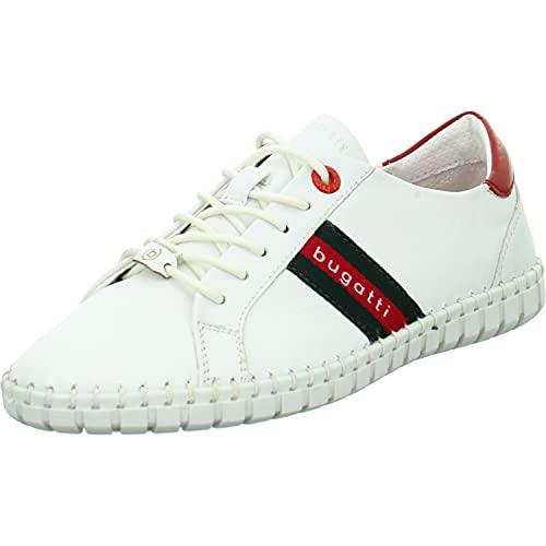 bugatti Damen 413A3U024040 Sneaker, White/red, 38 EU