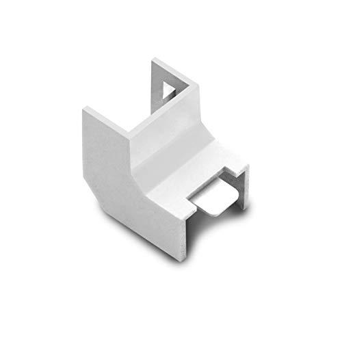 ARLI Kabelkanal 15x10mm 10x Eckstück innen 10 PVC Installationskanal Zubehör Ecken Montage 10 Stück