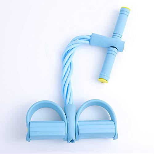 Entrenador Abdominal Entrenador de piernas, Banda de Resistencia del Pedal, Cuerda de tensión Multifuncional Cuerda de Culturismo Equipo de Gimnasio,Azul