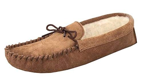 Mokkers Mens Leather Suede Slippers Warm Lined Moccasin Suede Sole Shoes...