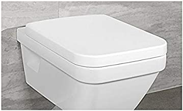 WC-Sitz aus Duroplast mit Bidetfunktion und Hebelmische FE322-34 CREAVIT Dusch-WC Randloses Design Wand H/änge-WC Toilette inkl warm-kalt