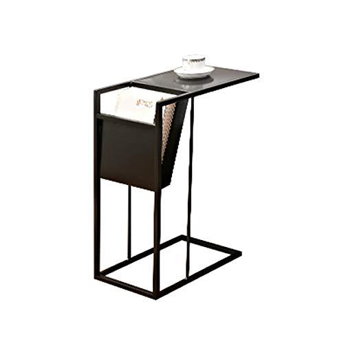 Tables FEI - Bureau d'ordinateur d'appoint de canapé en métal forgé pour Tous Les postes de Travail (Couleur : Noir)