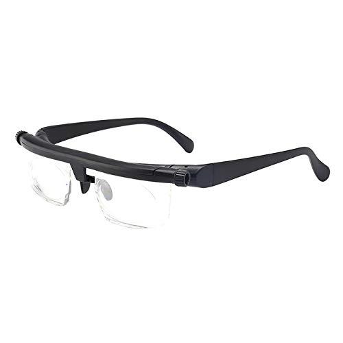 F Fityle Portable Unisex Presbyopic Glasses Adjustable Strength Lens Reader Hyperopia Myopia...