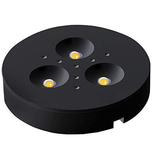Superficie ultra delgado montado en el techo del panel LED de luz COB downlight redondo Spotlight super brillante lámpara moderna del accesorio de iluminación 110V - 240V Accent Negro Luz [Clase energ