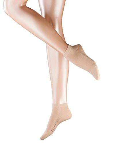 FALKE 3 Paar Socken 47629 Family Damen Sneaker Sommerlicher Kurzstrumpf, Socken und Strümpfe:35-38, Farbe:Cream