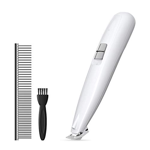 Conico Dog Clipper Pet Cat Puppy Groomer Cordless Electric Dogs Trimmer with Low Noise, Dog Grooming Clippers for Trimming The Hair Around Paws, Ears and Other Small Areas