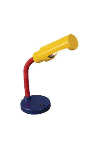 Massive Studio Lampe de table 666215510 – Lampes de bureau (Bleu, Rouge, Jaune, acier galvanisé, métal, Synthétique, bureau, étude, iP20, II, E27)