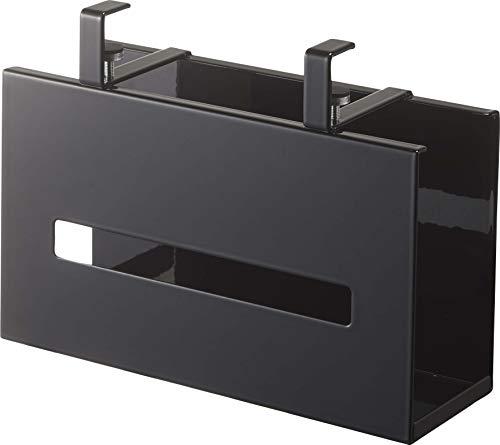山崎実業(Yamazaki) 洗面戸棚下ペーパーボックスホルダー ブラック 約W25XD8.5XH18.5cm タワー 浮かせて収納 ティッシュケース ティッシュカバー 5011