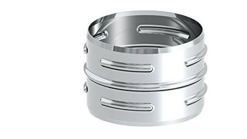 Ofenrohr - Steckverbinder DC01 Stahl, unlackiert; 120mm Durchmesser, Edelstahl