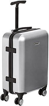 Amazon Basics Hardshell Spinner Suitcase with Built-In TSA Lock 22.8-Inch Silver