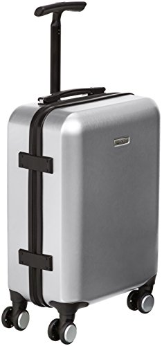 AmazonBasics Hardshell Spinner Suitcase with Built-In TSA Lock, 22.8-Inch, Silver