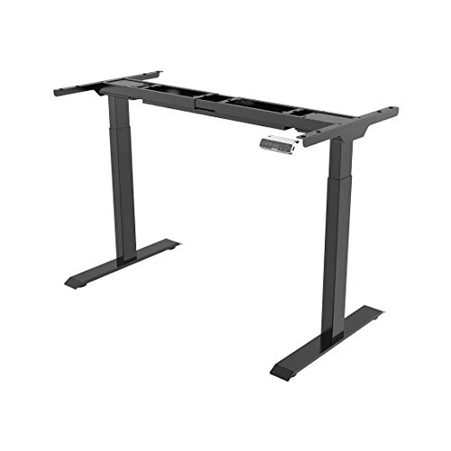SANODESK Basic Line - elektrisch stufenlos höhenverstellbarer Schreibtisch mit Kollisionschutz, Kindersicherung, Memory-Steuerung und Softstart/Stop Funktion