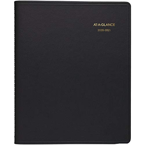 Academic Planner 2020-2021, AT-A-GLANCE Monthly Planner, 9' x 11', Large, Black (7007405)