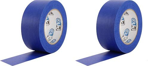 """ProTapes Pro Scenic 714 Crepe Paper 14 Day Easy Release Painters Masking Tape, 60 yds Length x 3"""" Width, Blue (Pack of 1) (2-(Pack))"""