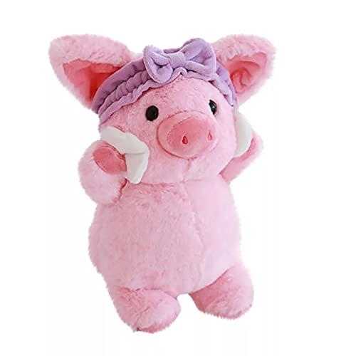 ZZYOU 30 cm / 11,7 Pulgadas Kawaii Maquillaje Polvo Cerdo Anime Cerdo Figura de acción Muñeca Decoración Peluches de Peluche Stitch Ramo de Peluche