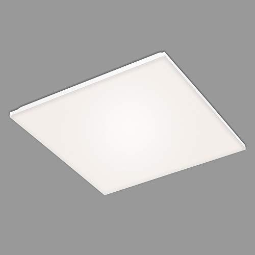 Briloner Leuchten - LED Panel, LED Deckenlampe, rahmenlos, 38 Watt, 3.800 Lumen, 4.000 Kelvin, Weiß, 595x595x75mm (LxBxH)