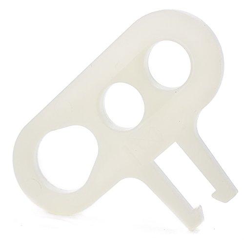 Dreilochscheibe Aufhängung Zugentlastung für Textilkabel Lampenkabel, mit Halterung (für Lüsterklemme) - 50x Stück