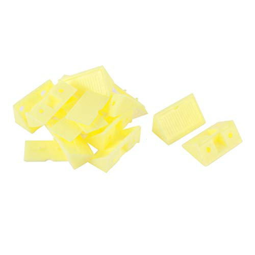 Aexit Muebles Estante Gabinete de plástico de esquina apoyos ángulo soporte amarillo 10pcs (46499262d65e49d61e7f25ffb9755825)