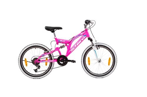 F.lli Schiano Jett 2.0 Mountainbike, Unisex-Youth, Rosa, 50,8 cm (20 Zoll)