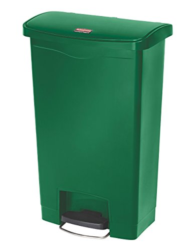 Rubbermaid Commercial Products Slim Jim Step-On Plastic Trash/Garbage Cans (Renewed)