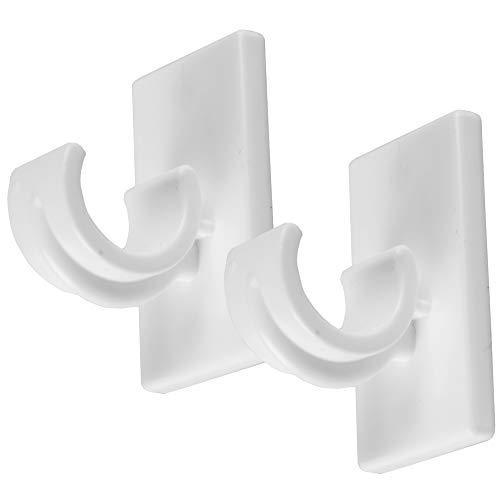 Bestlivings 8er Pack Ersatzträger für Gardinenstangen bis Ø 12 mm in Weiß (L 2,5 cm), Träger für Cafehausstangen, Scheibenstangen