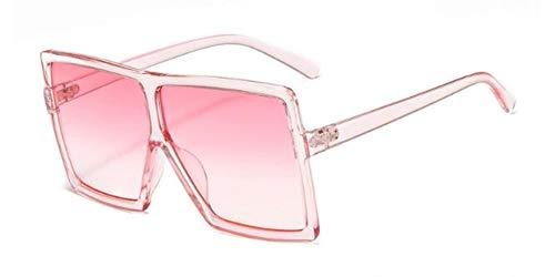Yhui Oversized Dames Zonnebril Vintage Glanzend Zwart Vierkante Zonnebril Bril Unisex Grote Oogkleding
