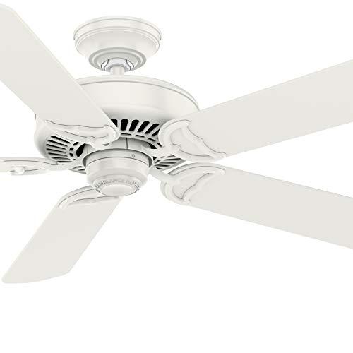 Casablanca Fan 54 inch Traditional Fresh White Ceiling Fan with Remote Control (Renewed)