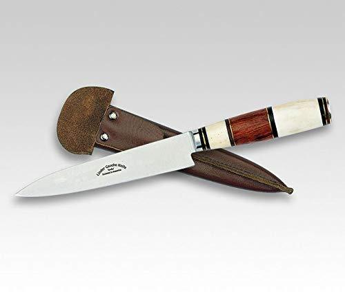 Linder Gaucho Messer , Outdoormesser , Jagdmesser , 456010 , Klingenlänge: 14,0 cm , 420 Klingenstahl , Knochen | Messer für, Camping, Abenteur, Wandern