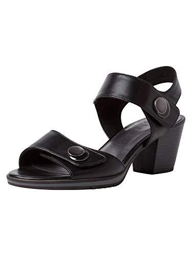 Jana Femmes Sandale à Talon 8-8-28328-26 001 Largeur H Taille: 37 EU