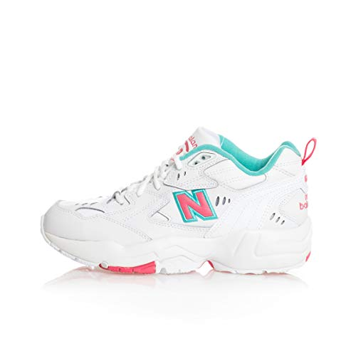New Balance WX608WT1, Trail Running Shoe Womens, Blanco Rosa, 32 EU