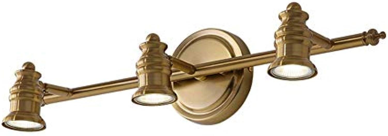 YUI Modern Spiegellampe LED Spiegelleuchte Badlampe IP44 Wasserdicht 3-flammig Bad Lampe Wandleuchte Verstellbar Schwenkbar Kopf Badleuchte Innen Beleuchtung 15W Warmes Licht Metall Edelstahl  53cm