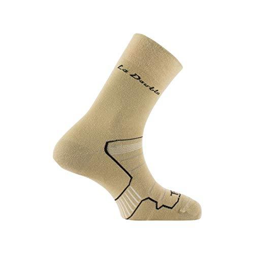 Thyo - Mi-chaussettes La Double® Authentic fabriquée en France - couleur - Beige - Pointure - 43-44