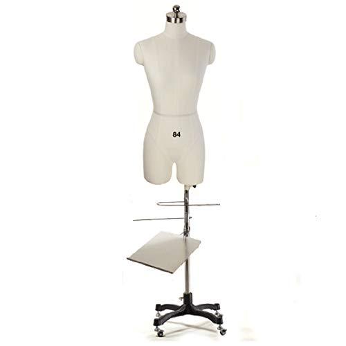 ZAQI Maniqui Costura Mujer Modista Maniquí de Costura para Hombre con Estante para Pantalones, Estante para Zapatos, Forma de Vestido Ligero Blanco para Tiendas de Dormitorio, Estudios (Size :