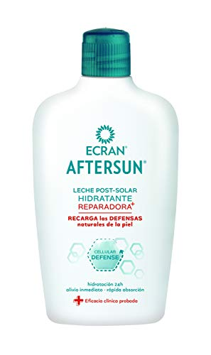 Ecran Aftersun, Leche Post-Solar Hidratante y Reparadora - Formato Familiar de 400 ml