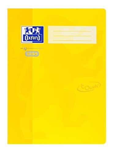 Oxford by ELBA 400103407 Schnellhefter aus festem Karton mit Soft Touch-Oberfläche für Format DIN A4 in der Farbe Gelb, 1 Stück