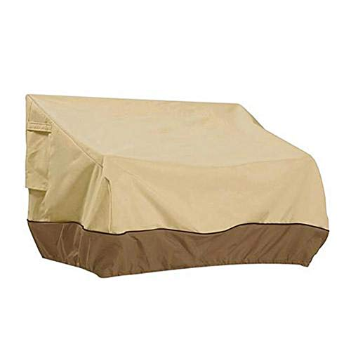 Garden Furniture Covers,Waterproof, Rectangular/Oval Cover, Windproof And Anti-UV, for Sofas And Chairs, PVC,Beige,S