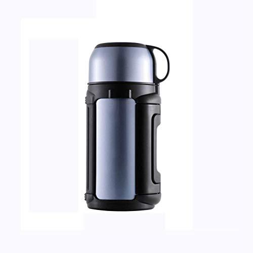 JYDQM Tazas de Agua, Tazas de Aislamiento de Acero Inoxidable Aislamiento de Acero Inoxidable Taza Termos Al Aire Libre Capacidad de Gran Capacidad Hervidor de Coche 1.5L Beber Frascos,Zafiro