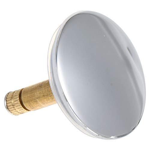 Cabilock, tappo per vasca da bagno, tappo di scarico universale per lavabo, diametro 43 mm, con pulsante di troppopieno, accessorio da cucina