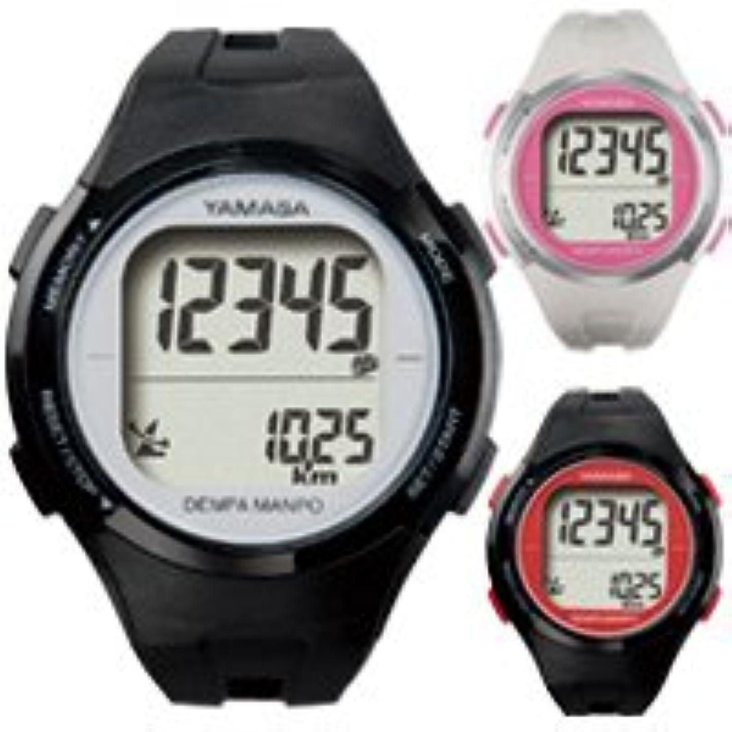 価値のない旅行者保証ウォッチ万歩計 腕時計 DEMPA MANPO[電波時計] TM-500 とけい万歩 YAMASA ブラック×シルバー