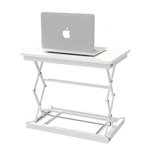 GSF Desks,Standing Desk Standing Desks Height Adjustable Seat Stand Converter Ergonomic Standpipe Rising Desktop Computer Table Workstation White,50X37Cm(20X15Inch)-White