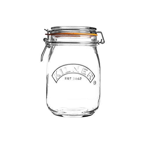 Kilner Round Clip Top Glass Jar, 1 L