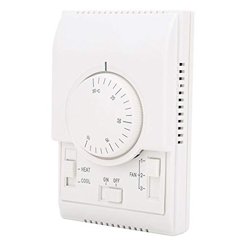 Oumefar Termostato de Temperatura Controlador de Temperatura mecánico Termostato de acondicionador de Aire Acondicionador de Aire AC220V para Equipos de máquinas