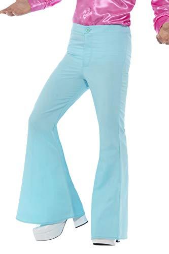 Smiffys-48193XL Pantalones de campana para hombre Color azul XL - Tamaño 46