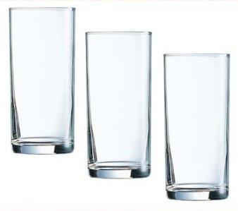 Arcoroc ARC 34752 Rotterdam Altbierbecher, Bierstange, Bierglas, 300ml, mit Füllstrich bei 0.25l, Glas, transparent, 12 Stück
